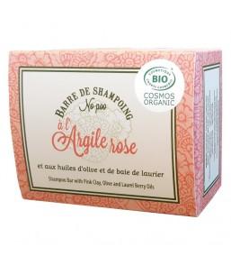Barre shampoing argile rose